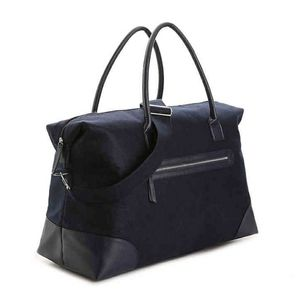 DSW Blue felt tote bag brand new